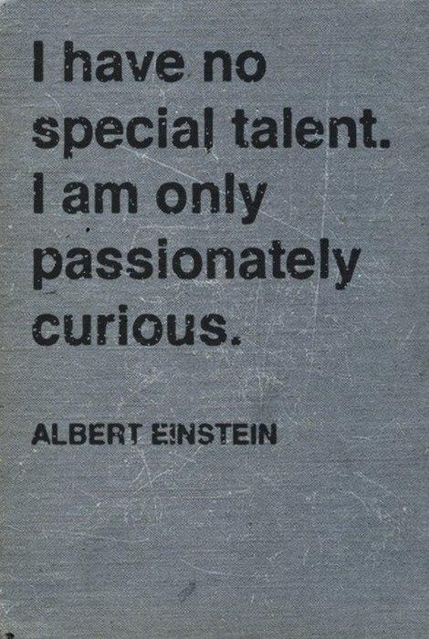 I Have No Special Talent Albert Einstein