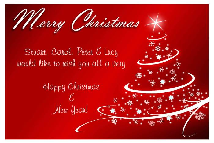 christmas card sayings phrases - Christmas Card Wording