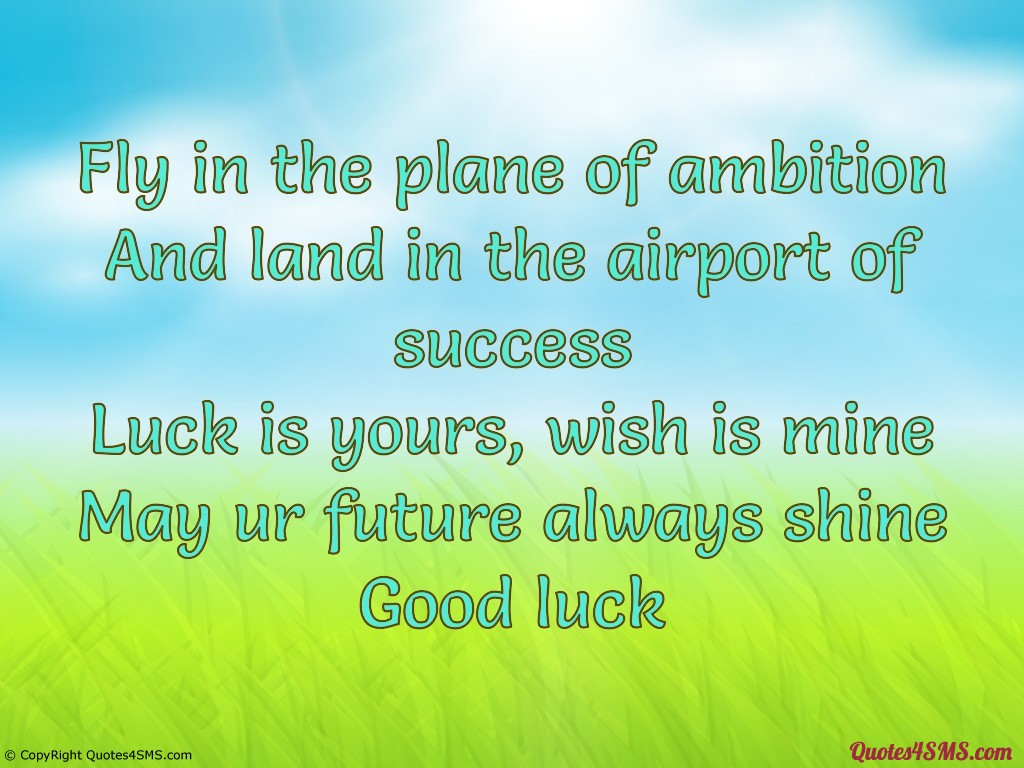 Good Luck wishes