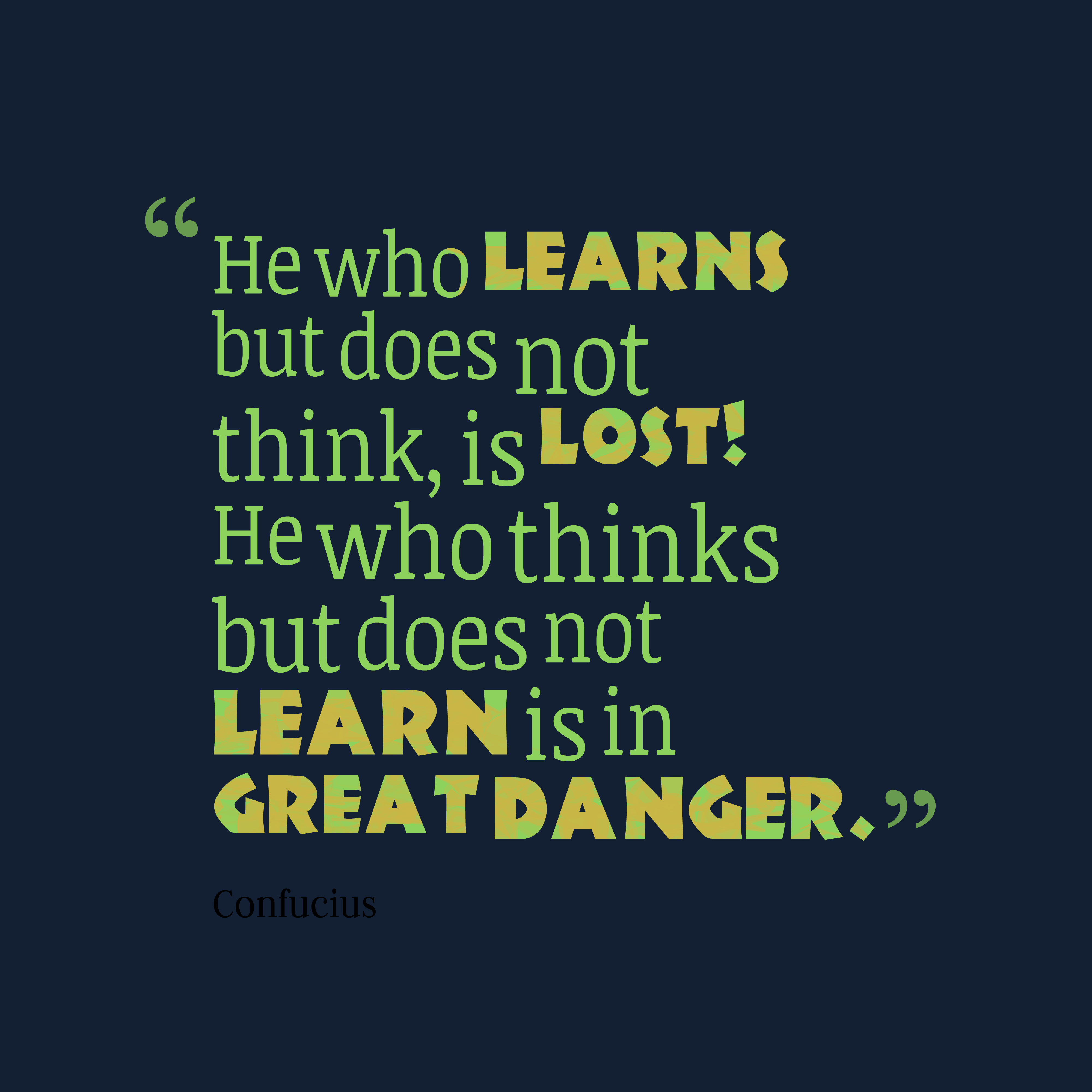 confucius quote about learning