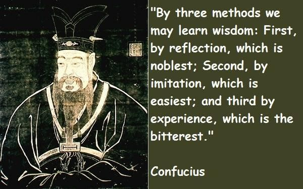 confucius quote about wisdom learning
