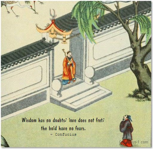 confucius quote wisdom doubts fears