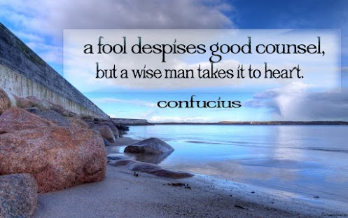 confucius quote heart fool