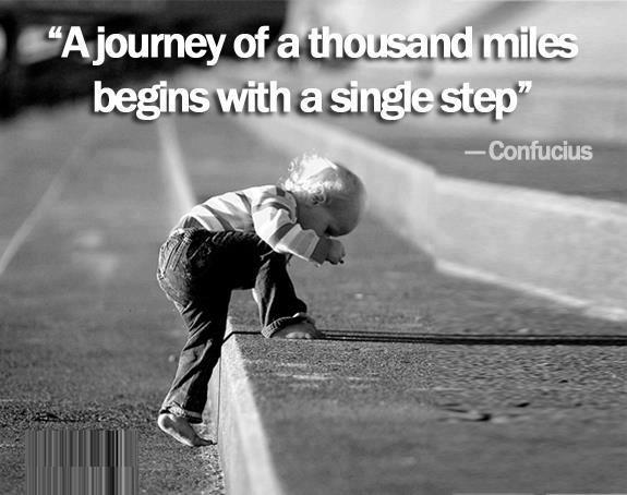 confucius quote journey