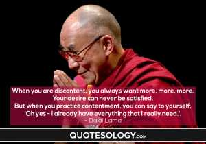Dalai Lama Satisfaction Quotes