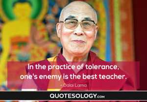 Dalai Lama Tolerance Quotes