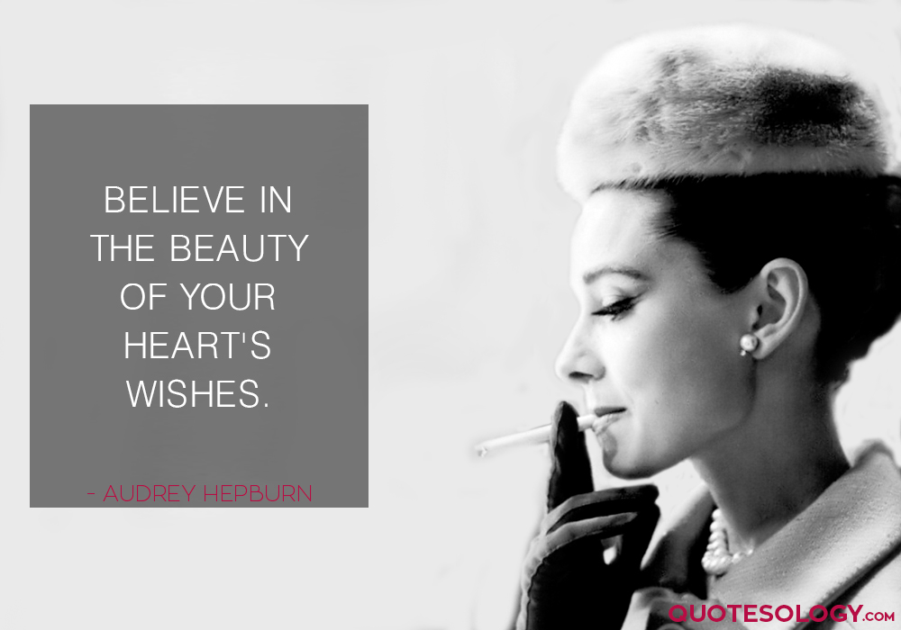 Audrey Hepburn Heart Wishes Quotes