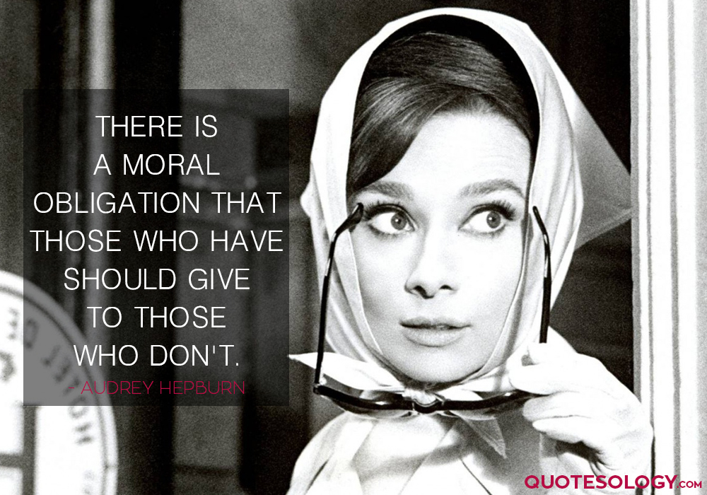 Audrey Hepburn Moral Quotes