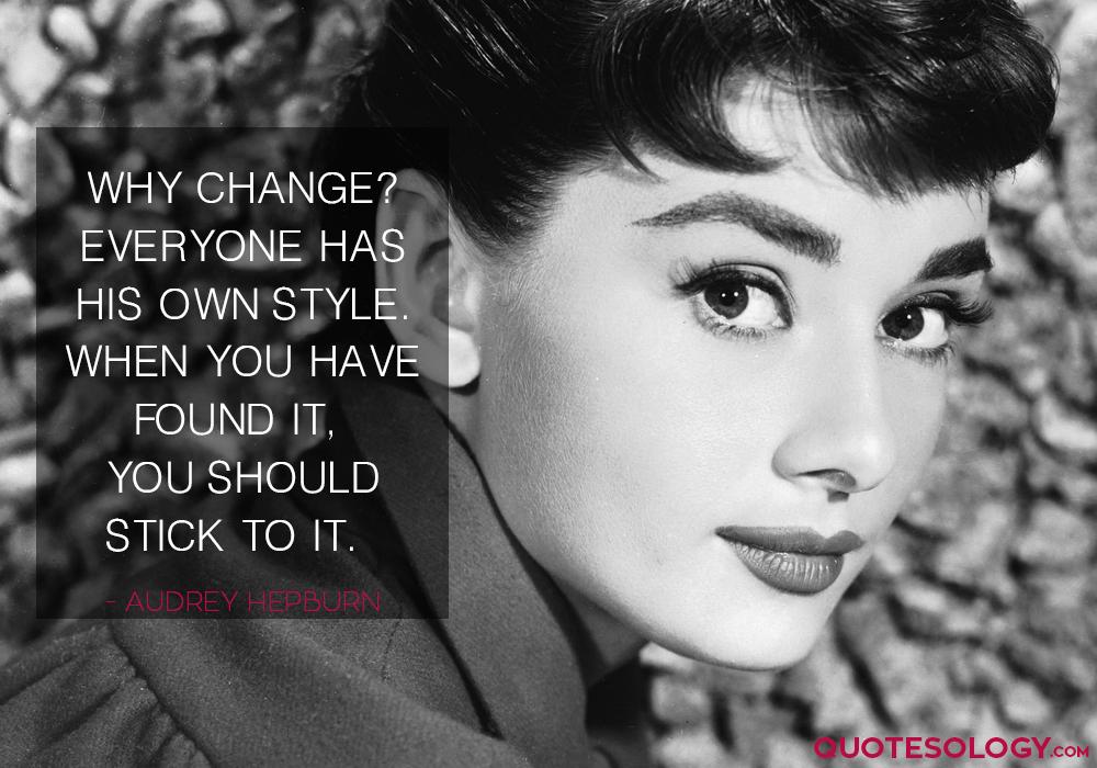 Audrey Hepburn Style Quotes