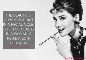 Audrey Hepburn Woman Beauty Quotes
