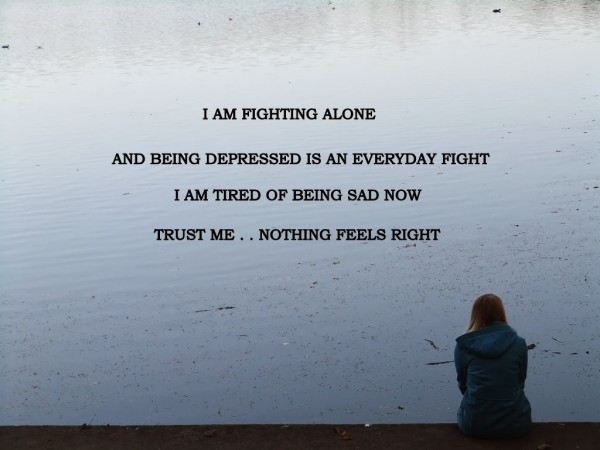 fighting-alone-Depression-Quote