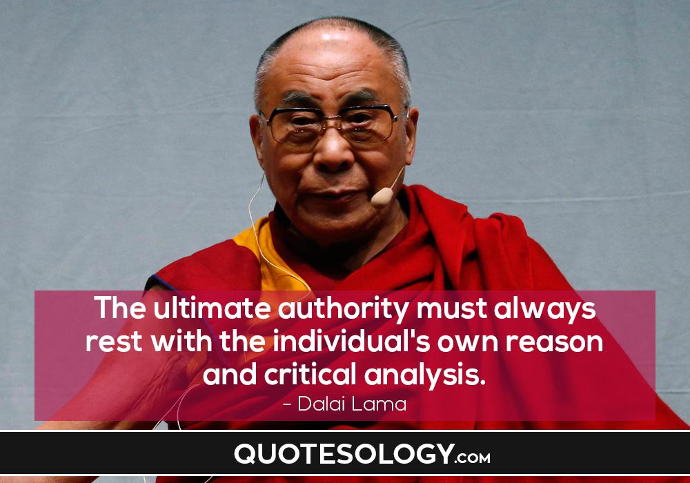 Dalai Lama Critical Quotes