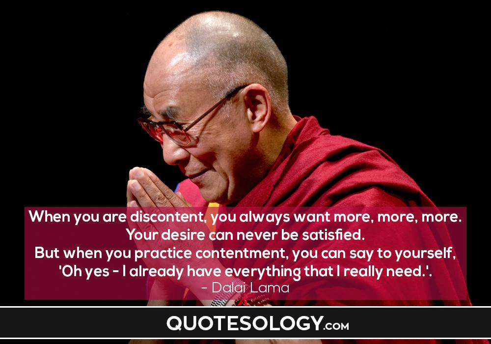 Dalai Lama Satisfaction Quotes