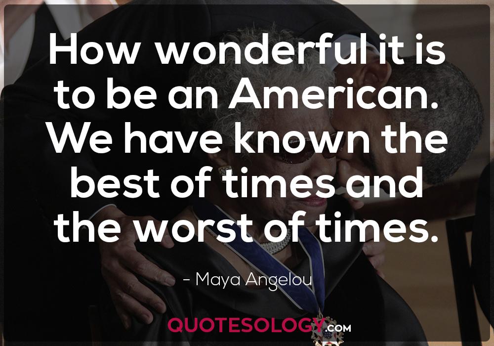 Maya Angelou Love America