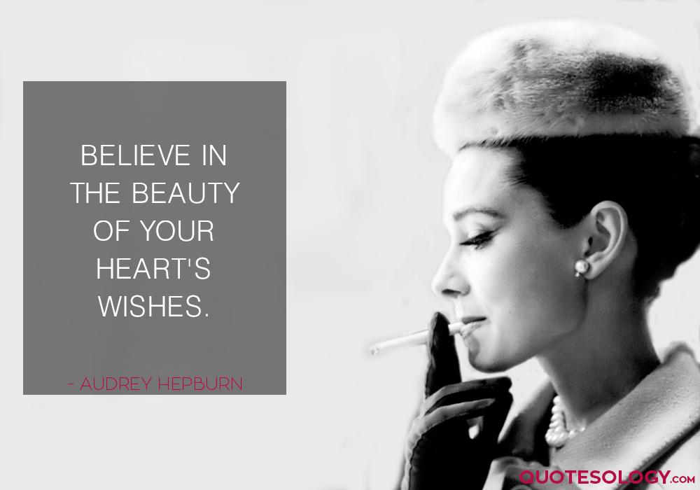 Audrey Hepburn Heart Wishes Quotes