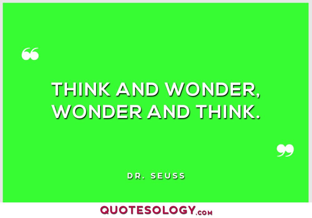 Dr Seuss Wonder Quotes