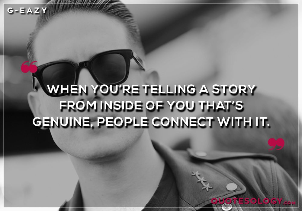 G Eazy People Quote
