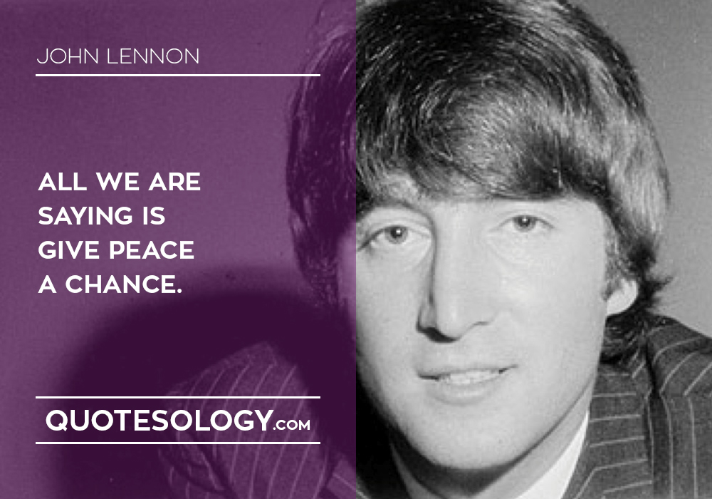 John Lennan World Peace Quotes